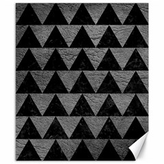 Triangle2 Black Marble & Gray Leather Canvas 8  X 10