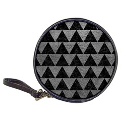 Triangle2 Black Marble & Gray Leather Classic 20 Cd Wallets