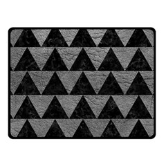 Triangle2 Black Marble & Gray Leather Fleece Blanket (small)