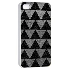 Triangle2 Black Marble & Gray Leather Apple Iphone 4/4s Seamless Case (white)