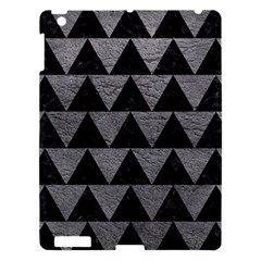 Triangle2 Black Marble & Gray Leather Apple Ipad 3/4 Hardshell Case