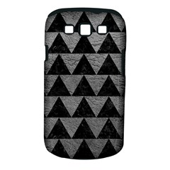 Triangle2 Black Marble & Gray Leather Samsung Galaxy S Iii Classic Hardshell Case (pc+silicone)