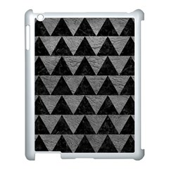Triangle2 Black Marble & Gray Leather Apple Ipad 3/4 Case (white)