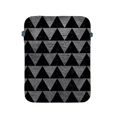 Triangle2 Black Marble & Gray Leather Apple Ipad 2/3/4 Protective Soft Cases