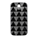 TRIANGLE2 BLACK MARBLE & GRAY LEATHER Samsung Galaxy S4 I9500/I9505  Hardshell Back Case Front