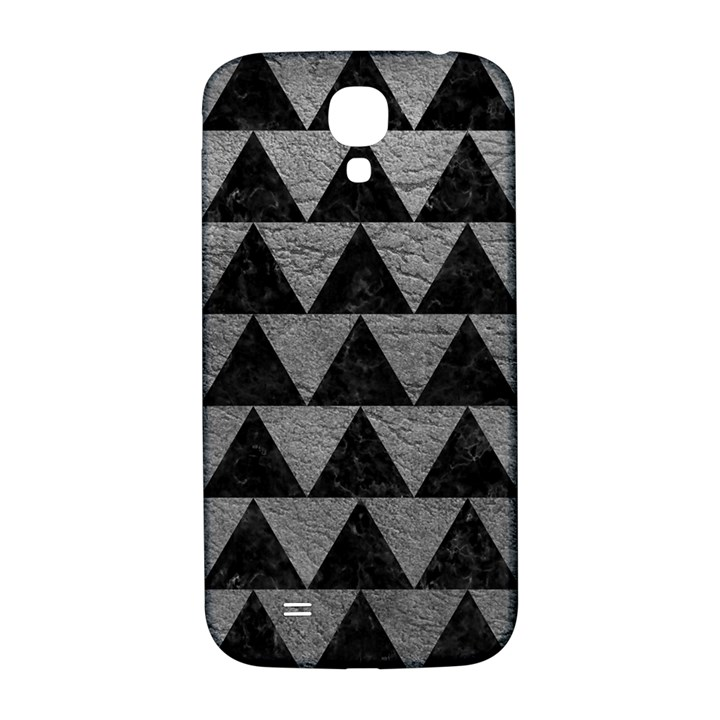 TRIANGLE2 BLACK MARBLE & GRAY LEATHER Samsung Galaxy S4 I9500/I9505  Hardshell Back Case