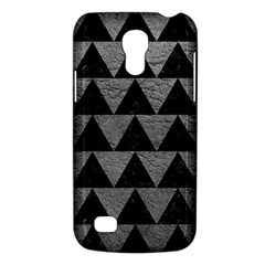 Triangle2 Black Marble & Gray Leather Galaxy S4 Mini