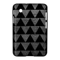 Triangle2 Black Marble & Gray Leather Samsung Galaxy Tab 2 (7 ) P3100 Hardshell Case