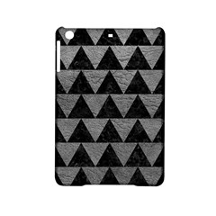 Triangle2 Black Marble & Gray Leather Ipad Mini 2 Hardshell Cases