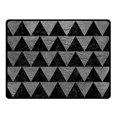 Triangle2 Black Marble & Gray Leather Double Sided Fleece Blanket (small)