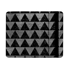 Triangle2 Black Marble & Gray Leather Samsung Galaxy Tab Pro 8 4  Flip Case