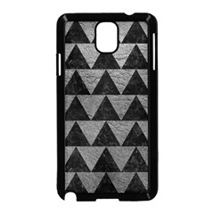 Triangle2 Black Marble & Gray Leather Samsung Galaxy Note 3 Neo Hardshell Case (black)