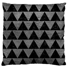 Triangle2 Black Marble & Gray Leather Standard Flano Cushion Case (one Side)