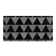 Triangle2 Black Marble & Gray Leather Satin Wrap