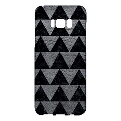 Triangle2 Black Marble & Gray Leather Samsung Galaxy S8 Plus Hardshell Case