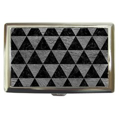 Triangle3 Black Marble & Gray Leather Cigarette Money Cases