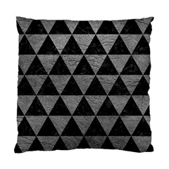 Triangle3 Black Marble & Gray Leather Standard Cushion Case (two Sides)