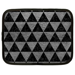 Triangle3 Black Marble & Gray Leather Netbook Case (xxl)