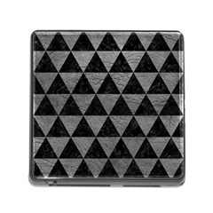 Triangle3 Black Marble & Gray Leather Memory Card Reader (square)