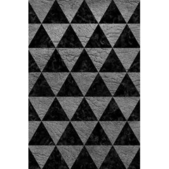 Triangle3 Black Marble & Gray Leather 5 5  X 8 5  Notebooks