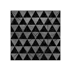 Triangle3 Black Marble & Gray Leather Acrylic Tangram Puzzle (4  X 4 )