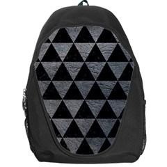 Triangle3 Black Marble & Gray Leather Backpack Bag