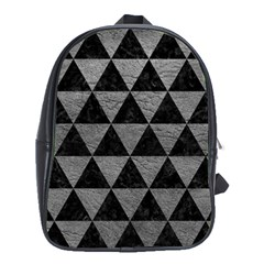 Triangle3 Black Marble & Gray Leather School Bag (xl)