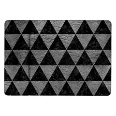 Triangle3 Black Marble & Gray Leather Samsung Galaxy Tab 10 1  P7500 Flip Case