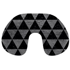 Triangle3 Black Marble & Gray Leather Travel Neck Pillows