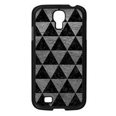 Triangle3 Black Marble & Gray Leather Samsung Galaxy S4 I9500/ I9505 Case (black)