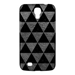 Triangle3 Black Marble & Gray Leather Samsung Galaxy Mega 6 3  I9200 Hardshell Case