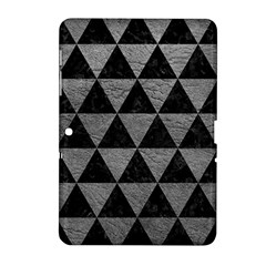 Triangle3 Black Marble & Gray Leather Samsung Galaxy Tab 2 (10 1 ) P5100 Hardshell Case