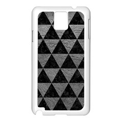 Triangle3 Black Marble & Gray Leather Samsung Galaxy Note 3 N9005 Case (white)