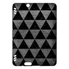 Triangle3 Black Marble & Gray Leather Kindle Fire Hdx Hardshell Case