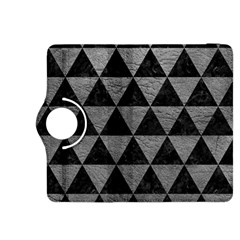 Triangle3 Black Marble & Gray Leather Kindle Fire Hdx 8 9  Flip 360 Case