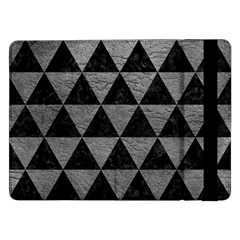 Triangle3 Black Marble & Gray Leather Samsung Galaxy Tab Pro 12 2  Flip Case