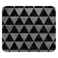 Triangle3 Black Marble & Gray Leather Double Sided Flano Blanket (small)