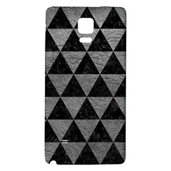 Triangle3 Black Marble & Gray Leather Galaxy Note 4 Back Case