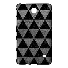 Triangle3 Black Marble & Gray Leather Samsung Galaxy Tab 4 (8 ) Hardshell Case