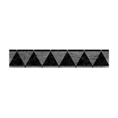 Triangle3 Black Marble & Gray Leather Flano Scarf (mini)