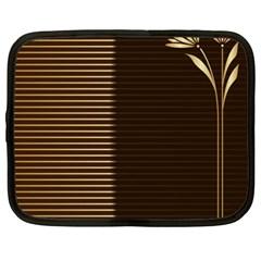 Gold Floral Art Nouveau Netbook Case (xxl)