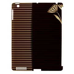 Gold Floral Art Nouveau Apple Ipad 3/4 Hardshell Case (compatible With Smart Cover)