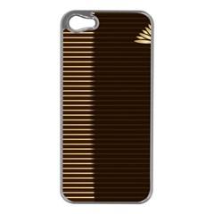 Gold Floral Art Nouveau Apple Iphone 5 Case (silver)