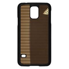 Gold Floral Art Nouveau Samsung Galaxy S5 Case (black)