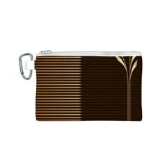Gold Floral Art Nouveau Canvas Cosmetic Bag (s)