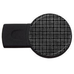 Woven1 Black Marble & Gray Leather Usb Flash Drive Round (2 Gb)