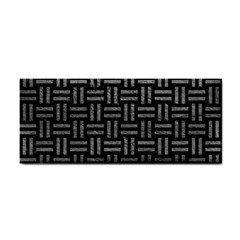 Woven1 Black Marble & Gray Leather Cosmetic Storage Cases