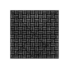 Woven1 Black Marble & Gray Leather Acrylic Tangram Puzzle (4  X 4 )