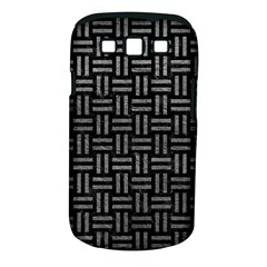 Woven1 Black Marble & Gray Leather Samsung Galaxy S Iii Classic Hardshell Case (pc+silicone)