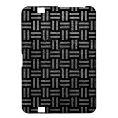 Woven1 Black Marble & Gray Leather Kindle Fire Hd 8 9
